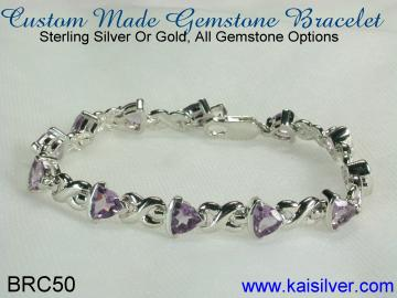 bracelet, sterling silver and gold bracelets with gem stones.