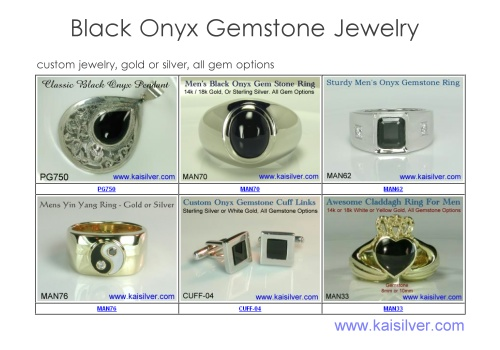 gemstone jewellery, black onyx gems