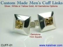 custom cufflinks in 14k or 18k gold, also 925 silver cufflinks
