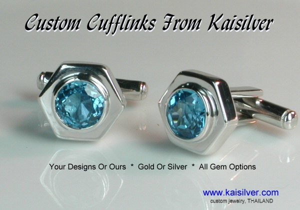 cufflinks from Kaisilver, custom cufflinks in gold or 925 silver