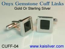 onyx cufflinks for men