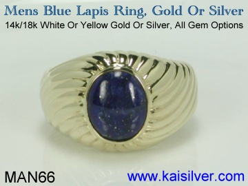 lapis gemstone rings for men
