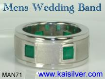 mens emerald gemstone ring, an option for a mens green gem stone ring