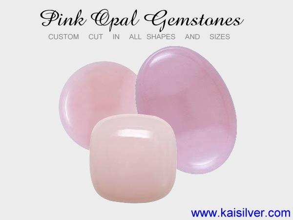 pink opal stones, custom cut pink opal gemstones